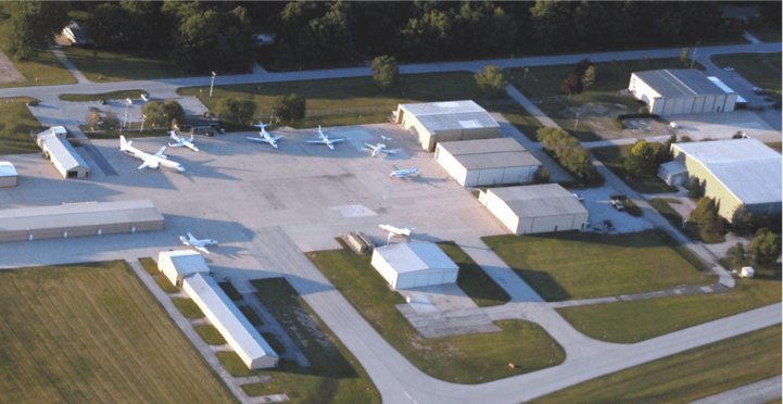 Aerial view of the Neil Armstrong Airport